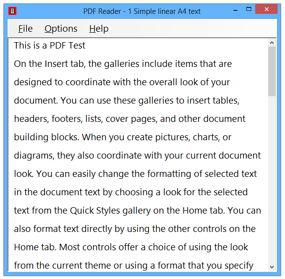 PDF Reader - open Adobe PDF files as accessible plain text